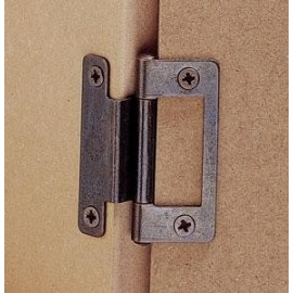 """Cupboard Cranked Flush Hinge 2"""" - Pack Of Two"""