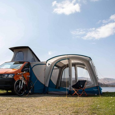 2021 Vango Magra VW Drive Away Inflatable Campervan AirBeam Awning Moroccan Blue