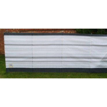 Blue Diamond 5 Pole Windbreak - Grey / White Stripe