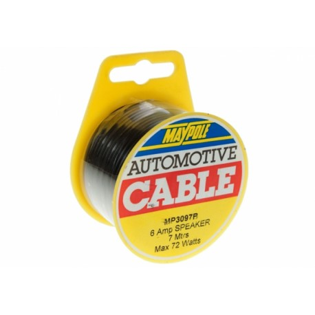 Maypole MP5039B Automotive / Domestic 6a Speaker Cable (7m Reel)