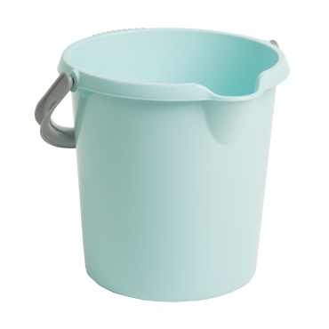 Plastic Bucket With Handle - Duck Egg Blue - 10Ltr