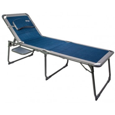 Quest Ragley Pro Padded Sun Lounger and Camp Bed with Side Table