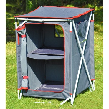Crusader Three Shelf Foldable Quick Erect Camping Wardrobe