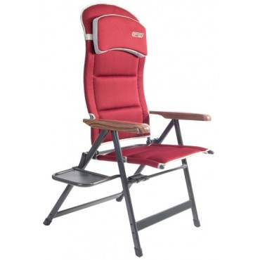Quest Pro Reclining Folding Chair with Side Table - Bordeaux