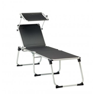 Isabella Sunbed / Sun Lounger with Adjustable Sun Shield
