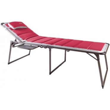 Bordeaux Pro  Lounger and Camp Bed with Side Table