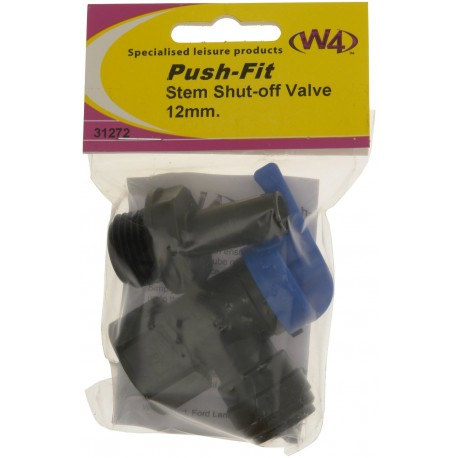 Caravan Push-Fit Stem Shut Off Valve 12mm