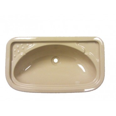 Rectangular Vanity Basin Sink For Caravan Or Camper Van - Beige