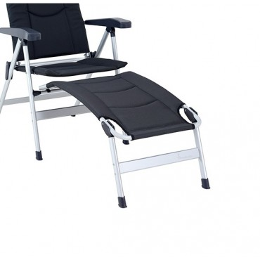 Isabella Lightweight Alloy Folding Footrest - Dark Grey