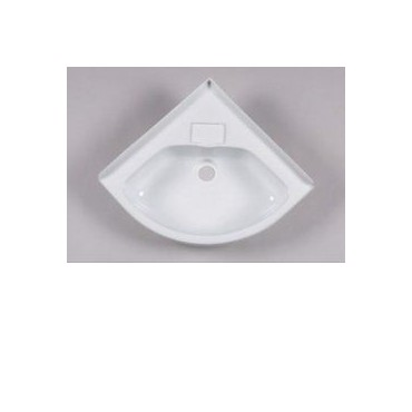 Small Corner Basin For Caravan Or Camper - White