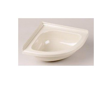Mini Corner Basin For Caravan Or Camper Van - Ivory