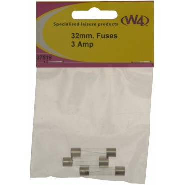 Pk Of Three - 32mm 3A Glass Fuses
