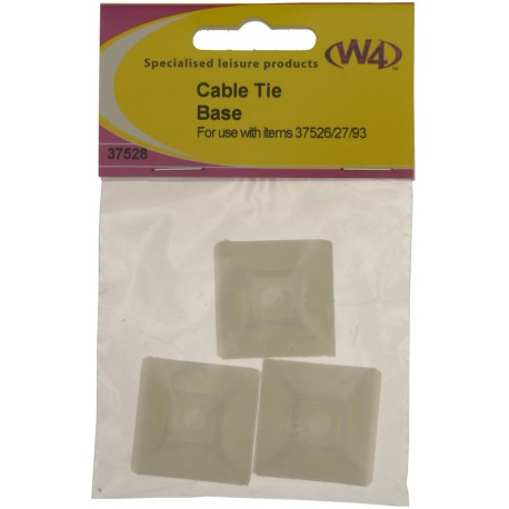 New - Cable Tie Base - Pack Of 3