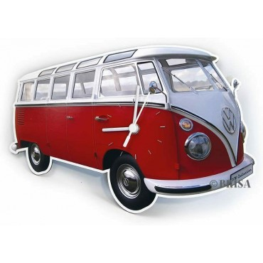 Volkswagon T1 Wall Clock  - Classic Red