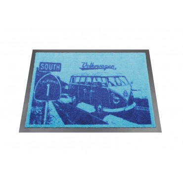 Volkswagen VW T1 Surf Bus Campervan Highway Door Mat