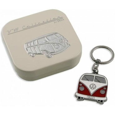 Volkswagen VW T1 Campervan Bus Key Ring - Red