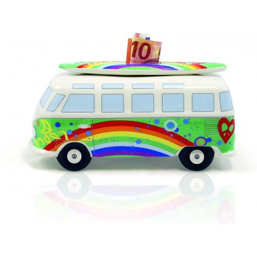 Volkswagen VW T1 Peace Green Campervan Money Box