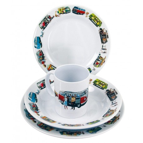 Picnic / Melamine 8 piece Dinner Set - Volkswagen VW T1
