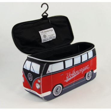 Volkswagen VW T1 Campervan Bus Neoprene Bag - Black/Red - Large