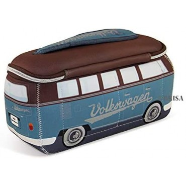 Volkswagen VW T1 Campervan Bus Neoprene Bag - Brown/Petrol - Large