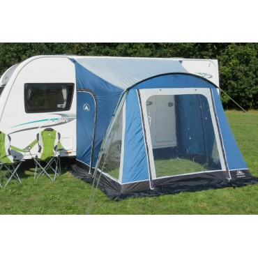Sunncamp Swift 260 Deluxe Caravan Poled Porch Awning - Blue