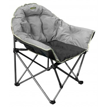 Quest Elite Autograph Comfy Padded Cleveland Folding Chair in Black & Grey