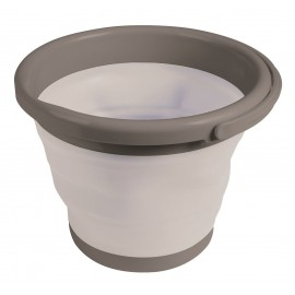 Kampa Silicone Sided 10 Litre Folding Grey Bucket