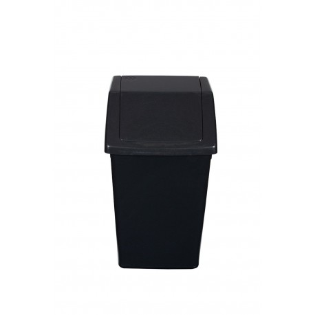 Compact 10LTR Swing Top Kitchen / Bathroom Waste Bin - Charcoal