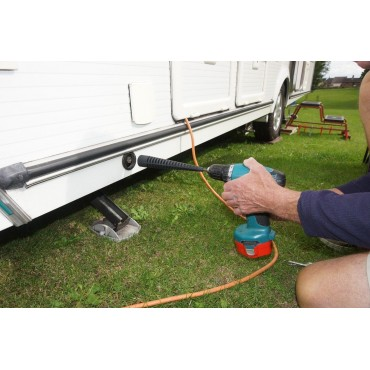 Caravan Corner Steady & Screw Peg Drill Adaptor Winder