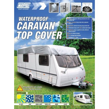 Maypole Waterproof Caravan Top Cover - fits caravans 14' - 17' long